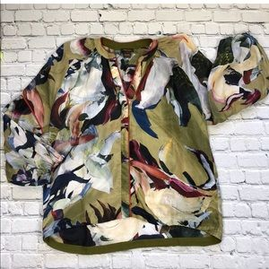 Vineet Bahl for Anthro Sunbound Blouse 100% Silk